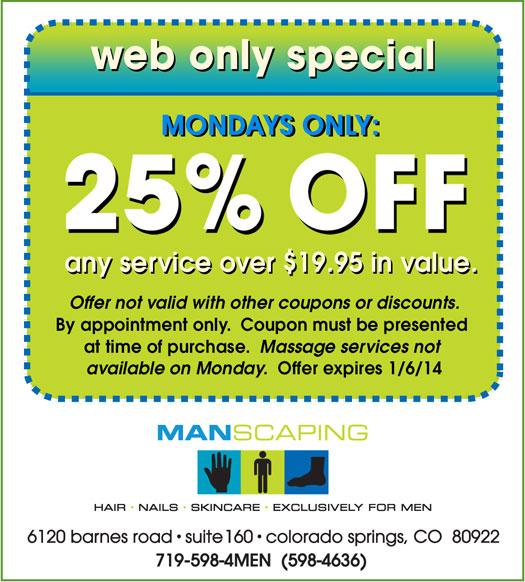 Manscaping - A Colorado Springs men's salon for hair - nails ...